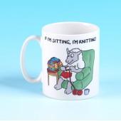 5135 Mug-IF I'M SITTING, I'M KNITTING