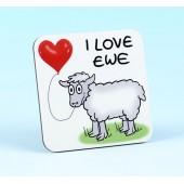 5225 Coaster-I LOVE EWE