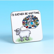 5236 Coaster-I'D RATHER BE KNITTING