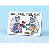 6101 Fridge Magnet-KNIT ONE, PURL ONE