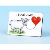 6115 Fridge Magnet-I LOVE EWE