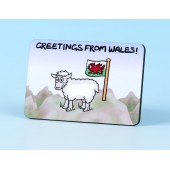 6128 Fridge Magnet-GREETINGS FROM WALES