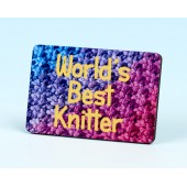 6138 Fridge Magnet-WORLD'S BEST KNITTER