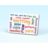 6139 Fridge Magnet-KNITTING WORDS
