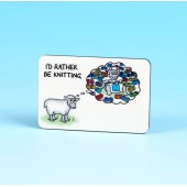 6146 Fridge Magnet-I'D RATHER BE KNITTING