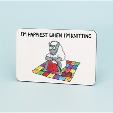 6156 Fridge Magnet-IM HAPPIEST WHEN IM KNITTING