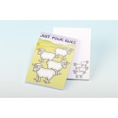 3135  Note Pad-JUST FOUR EWES