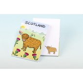 3155  Note Pad-HIGHLAND COW