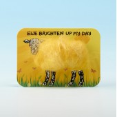 4105 Woolly Fridge Magnet-EWE BRIGHTEN UP MY DAY