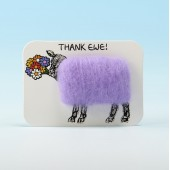 4109 Woolly Fridge Magnet-THANK EWE