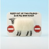 4113 Woolly Fridge Magnet-KEEP OUT OF THIS BRIDGE-EWE'RE BAA-RRED
