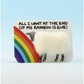 4116 Woolly Fridge Magnet-ALL I WANT AT THE END OF MY RAINBOW IS EWE
