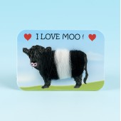 4121 Woolly Fridge Magnet-I LOVE MOO