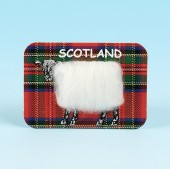 4123 Woolly Fridge Magnet-TARTAN SHEEP